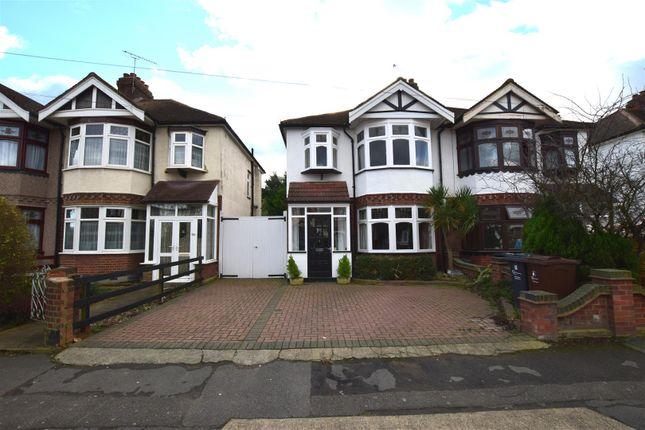 Thumbnail Semi-detached house for sale in Pemberton Gardens, Chadwell Heath, Romford
