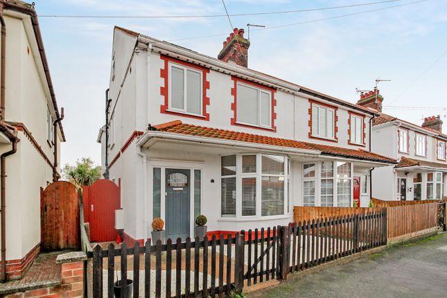 Thumbnail Semi-detached house for sale in Looe Road, Felixstowe