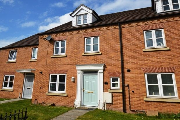 Thumbnail Town house to rent in Regent Gardens, Canal Wharf, Chesterfield