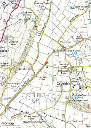 Location Map of Cotleigh, Honiton, Devon EX14