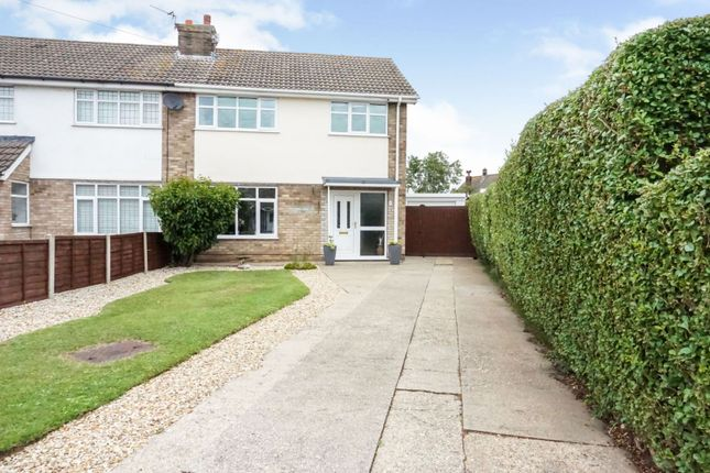 Thumbnail Semi-detached house for sale in Strubby Close, Cleethorpes