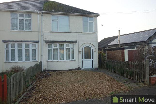 Thumbnail Semi-detached house to rent in Fulbridge Road, Peterborough, Cambridgeshire.