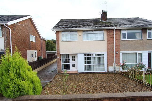 Semi-detached house for sale in Parklands Road, Tonyrefail -, Porth