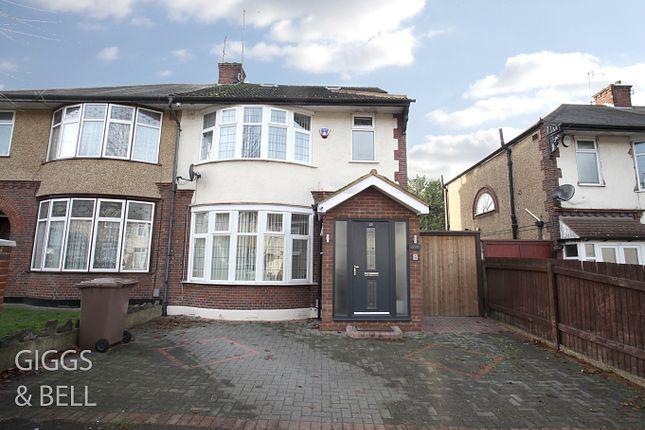 Semi-detached house for sale in St Monicas Avenue, Luton, Bedfordshire