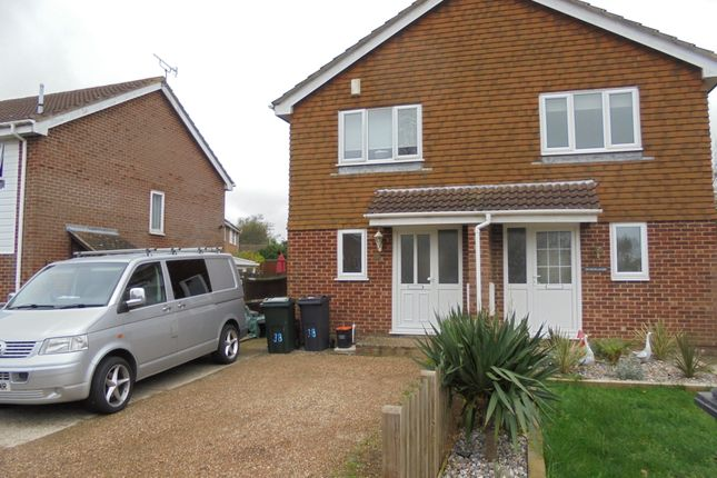 Thumbnail Semi-detached house to rent in Newlands, Ashford Kent