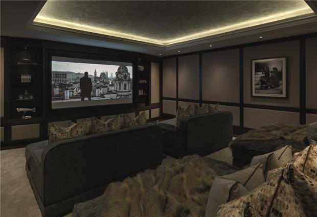 Cinema Room of Chester Square, Belgravia, London SW1W