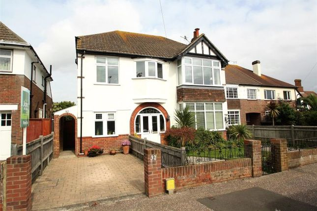 Thumbnail Flat for sale in Pevensey Road, West Worthing, West Sussex