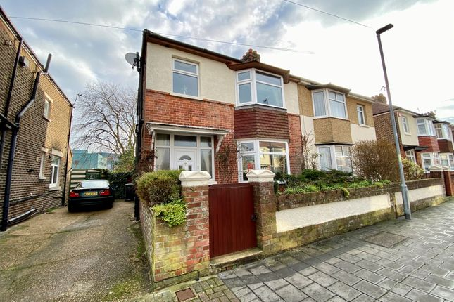 Thumbnail Semi-detached house for sale in Northwood Road, Portsmouth
