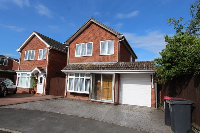 Thumbnail Detached house to rent in Rowan Close, Kingsbury, Tamworth