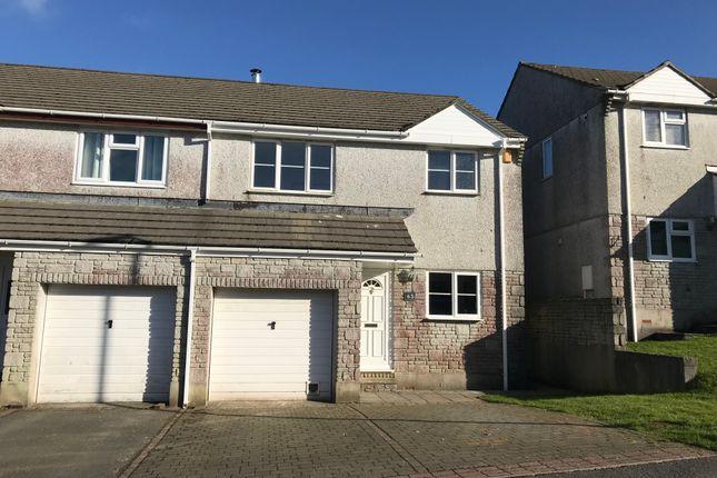 Thumbnail Semi-detached house to rent in Penhale Meadow, St. Cleer, Liskeard