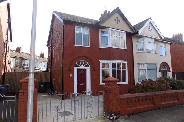 Thumbnail Semi-detached house to rent in Leckhampton Road, Blackpool
