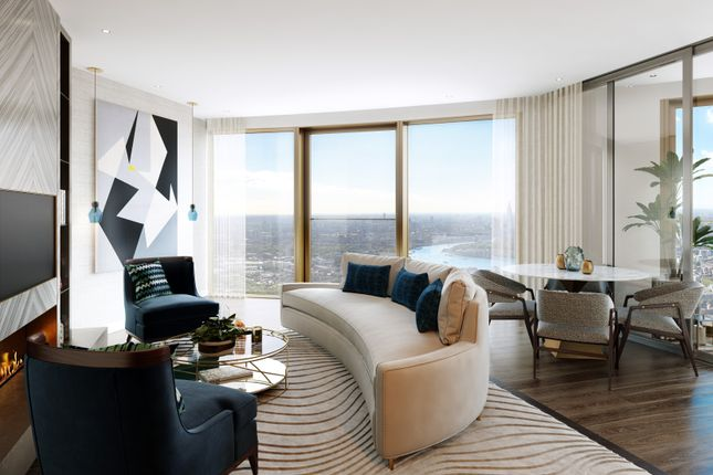 Thumbnail Flat for sale in Spire London Canary Wharf, London