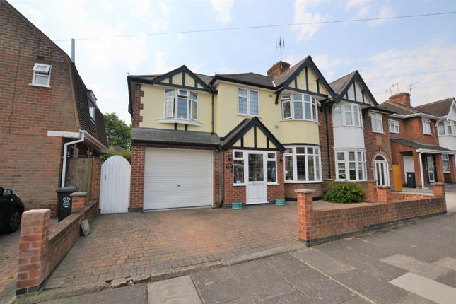 Thumbnail Semi-detached house for sale in Barton Road, Leicester