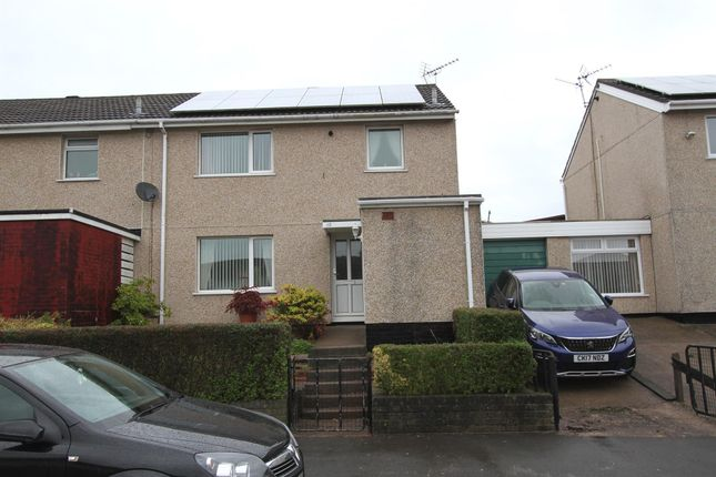Thumbnail End terrace house for sale in Medlock Crescent, Bettws, Newport