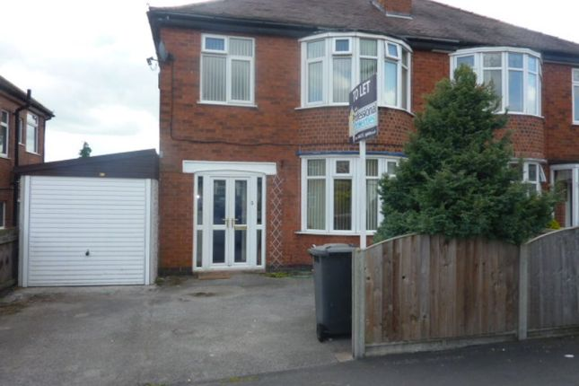 Thumbnail Semi-detached house to rent in Melton Avenue, Littleover, Derby