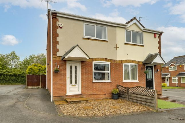 Thumbnail Semi-detached house for sale in Paddock Close, Cinderhill, Nottinghamshire
