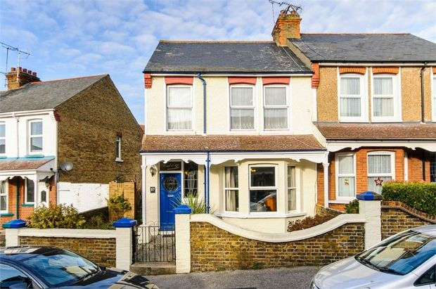 Thumbnail Semi-detached house for sale in Dane Crescent, Ramsgate
