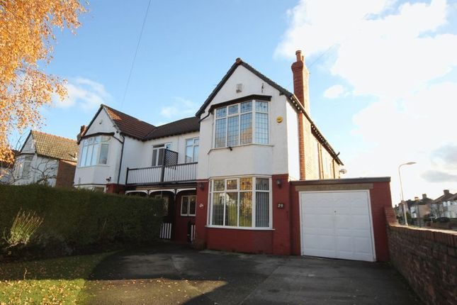 Thumbnail Semi-detached house for sale in Cavendish Drive, Bebington Border, Wirral