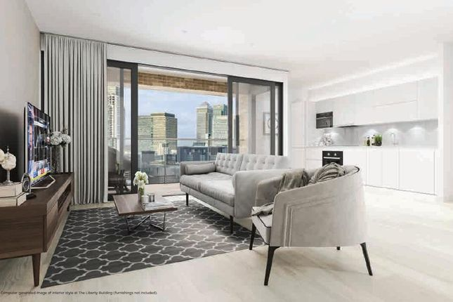 Thumbnail Flat for sale in The Liberty Building, 7 Limeharbour, Canary Wharf