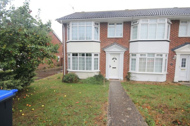 Thumbnail End terrace house to rent in Brierley Gardens, Lancing