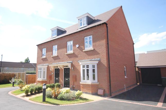 "Thumbnail Semi-detached house for sale in ""Kennett"" at Melton Road, Queniborough, Leicester"