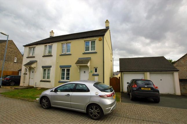 Thumbnail Semi-detached house to rent in Harebell Close, Pillmere, Saltash, Cornwall
