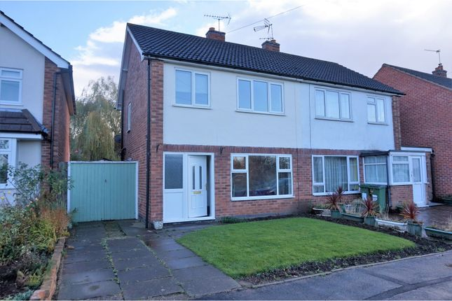 Thumbnail Semi-detached house for sale in Forrester Close, Leicester