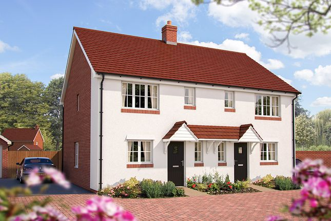 """Thumbnail Semi-detached house for sale in """"The Acer"""" at Maddoxford Lane, Botley, Southampton"""