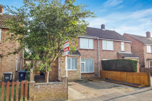 Semi-detached house for sale in Dewpond Close, St. Neots