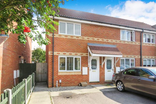 Thumbnail End terrace house for sale in Chervil Close, Biggleswade