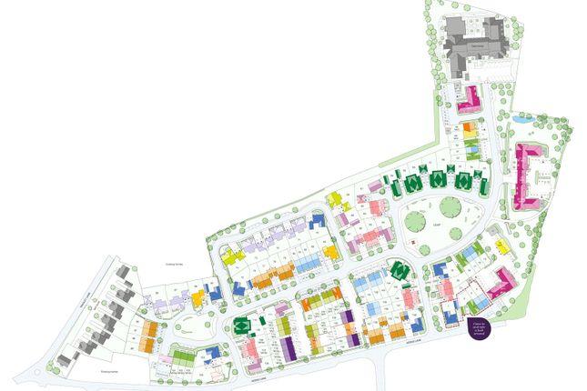 Site Map of Montague Place, Keens Lane, Guildford, Surrey GU3