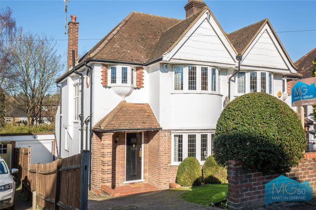 Thumbnail Semi-detached house for sale in Broadfields Avenue, Winchmore Hill, London