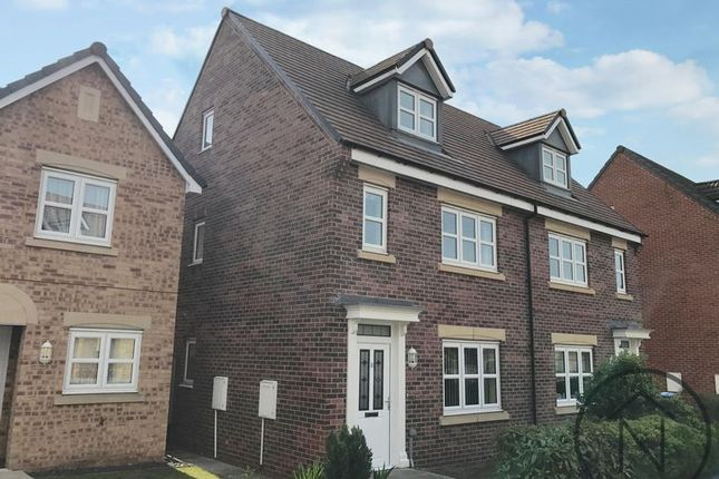Thumbnail Semi-detached house for sale in Wakenshaw Drive, Cobblers Hall, Newton Aycliffe