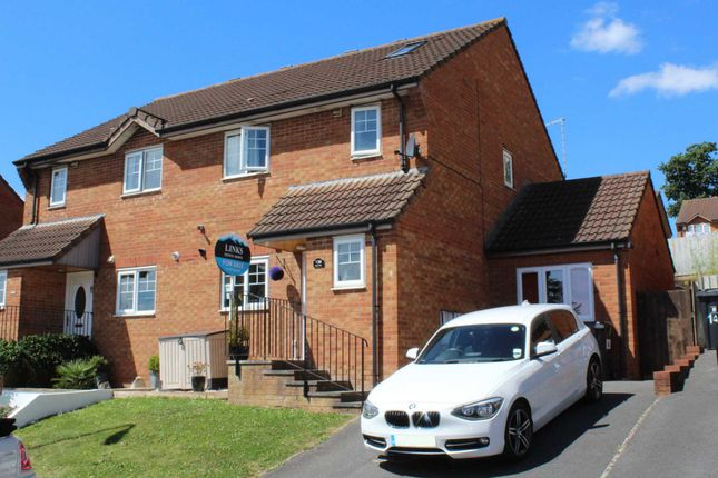 Thumbnail Semi-detached house for sale in Byron Way, Exmouth