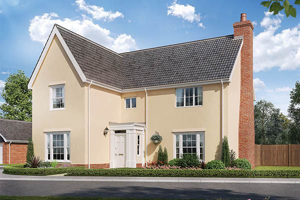 Thumbnail Detached house for sale in The Oulton, Watermill Gardens, Stoke Holy Cross, Norwich