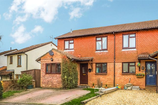 Thumbnail Semi-detached house for sale in Otterbourne Crescent, Tadley, Hampshire