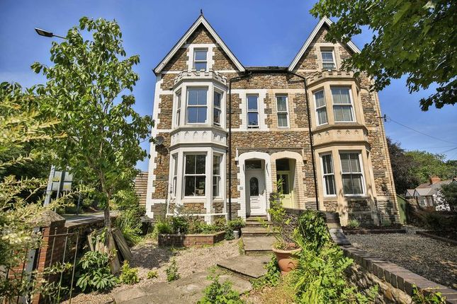 Thumbnail Semi-detached house for sale in Llantrisant Road, Llandaff, Cardiff