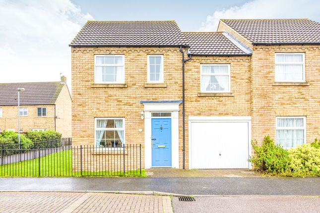 Thumbnail End terrace house for sale in Chapman Way, Eynesbury, St. Neots