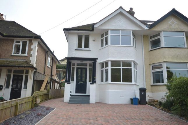 Thumbnail Semi-detached house for sale in Peaslands Road, Sidmouth, Devon