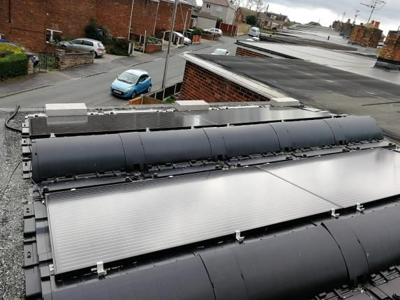 Solar Panels of Red Hall Avenue, Connah's Quay, Deeside, Flintshire CH5