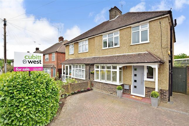 Thumbnail Semi-detached house for sale in The Crossways, Merstham, Surrey