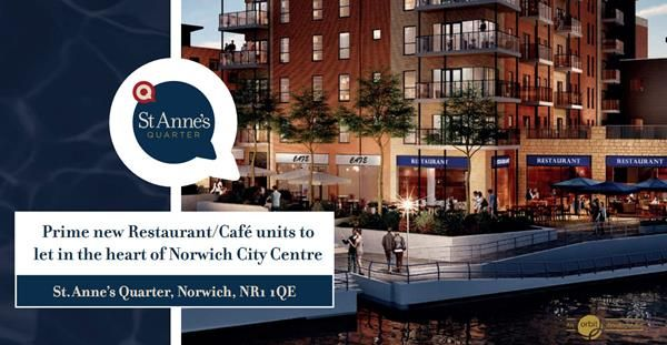 Thumbnail Restaurant/cafe to let in St Anne's Quarter, Riverside, Norwich