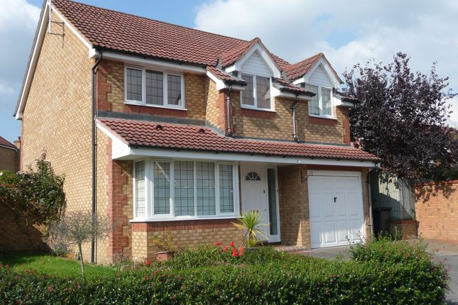 Thumbnail Detached house for sale in Redwoods, Addlestone
