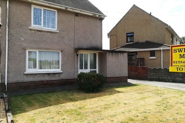 Thumbnail Semi-detached house to rent in Parc Richard, Llanelli