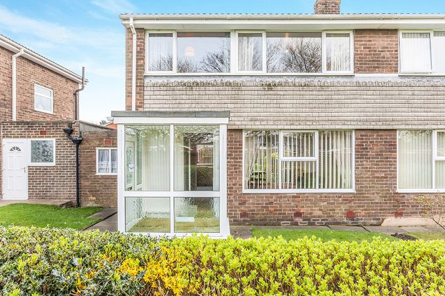 Thumbnail Semi-detached house for sale in Denham Walk, Chapel House, Newcastle Upon Tyne
