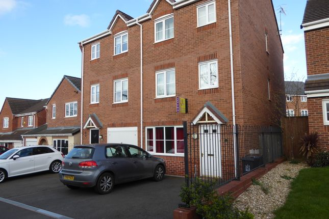 Thumbnail Semi-detached house to rent in Galingale View, Newcastle-Under-Lyme ST5, Newcastle Under-Lyme,