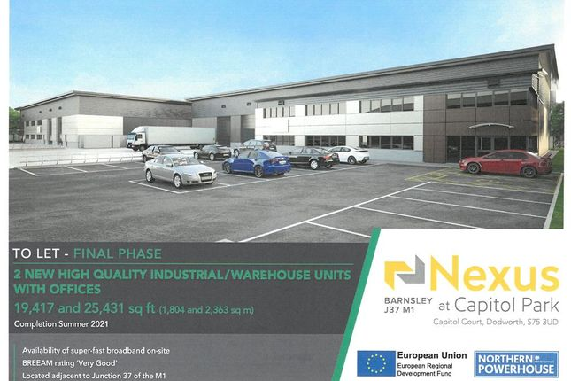Thumbnail Commercial property to let in Nexus At Capitol Park, Capitol Court, Dodworth, Barnsley, South Yorkshire