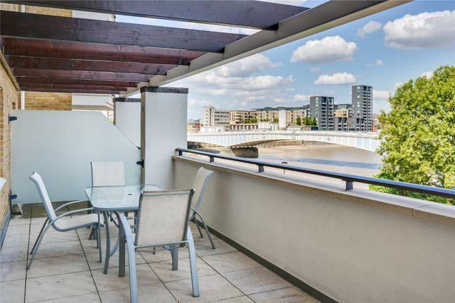 Balcony of Dolphin House, Smugglers Way, Wandsworth, London SW18