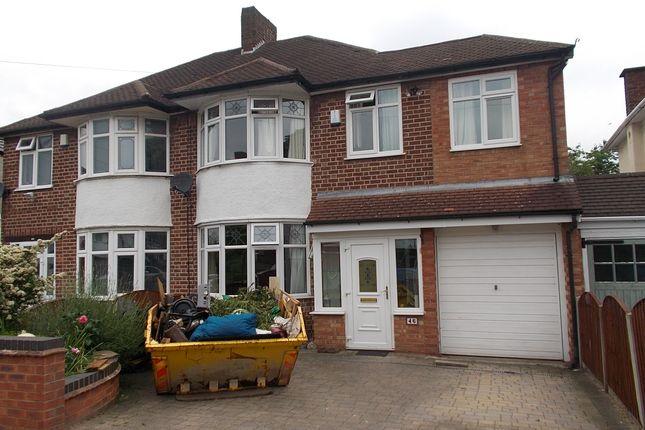 Thumbnail Semi-detached house for sale in Ashville Avenue, Hodge Hill, Birmingham