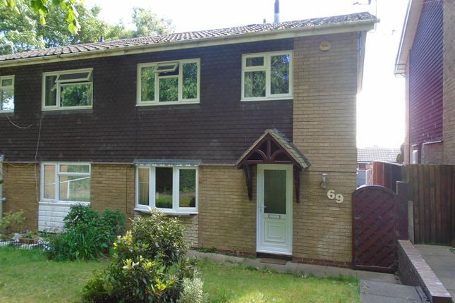 Thumbnail Semi-detached house for sale in Boston Close, Heath Hayes, Cannock